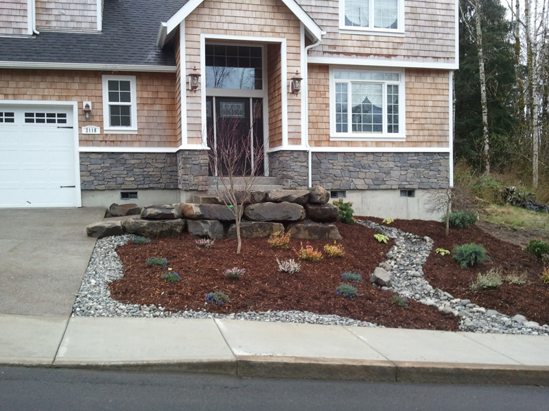 New landscaping design